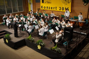 Der KMV Weinheim beim Jahreskonzert Februar 2016.